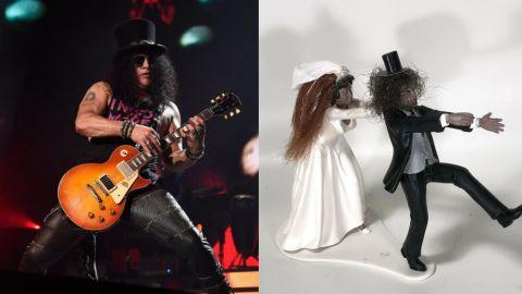 Subastan muñeco de torta con pelo de Slash