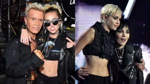 Joan Jett y Billy Idol con Miley Cyrus