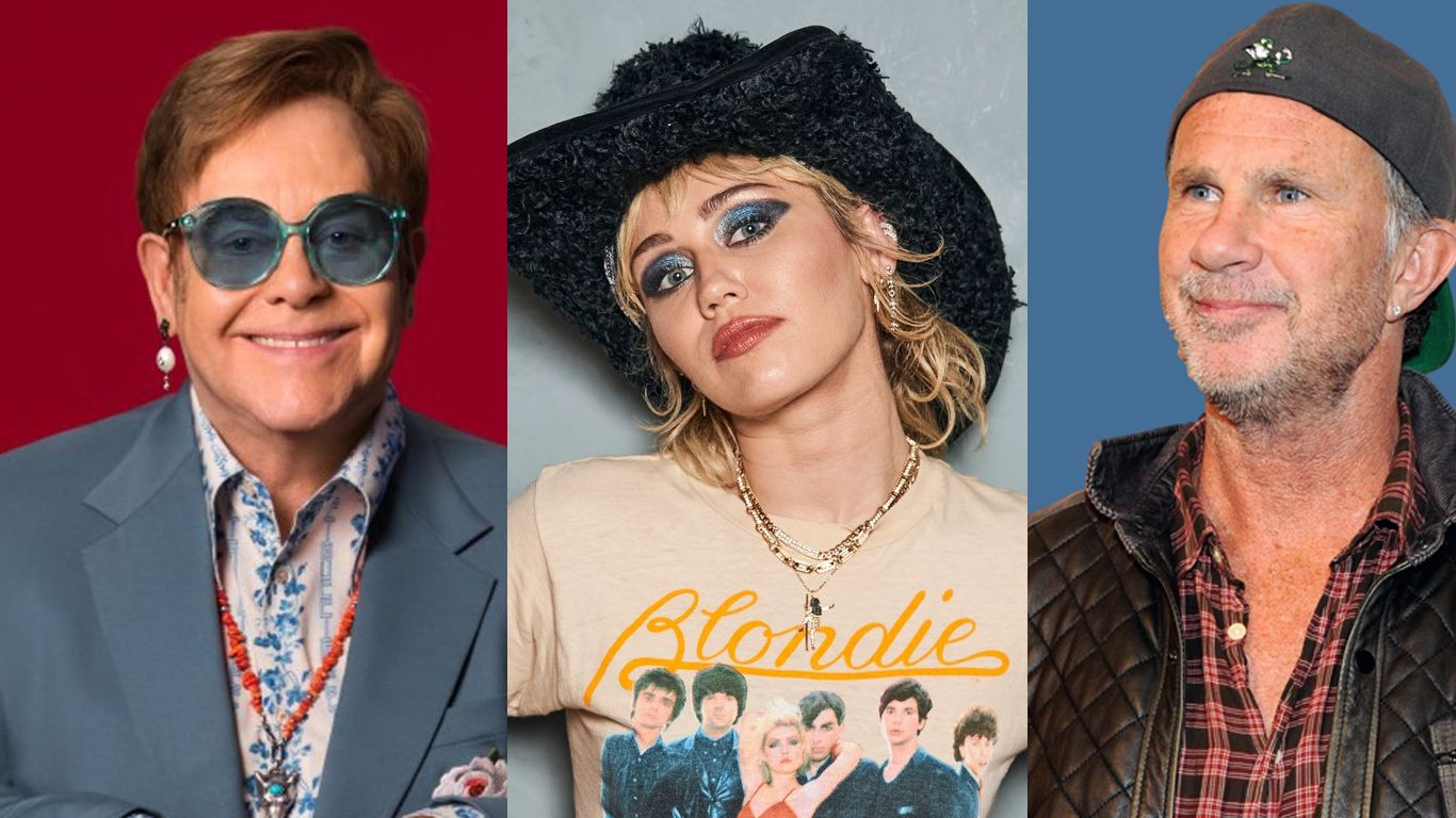Elton John y Chad Smith se suman a Miley Cyrus