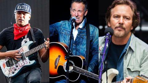 Springsteen, Vedder y Morello tocan una de AC/DC