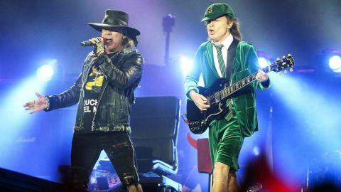 Angus Young y Axl Rose no compusieron música juntos