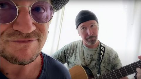 Bono y The Edge tocan Stairway To Heaven