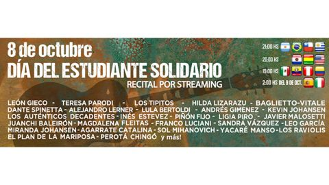 Día del Estudiante Solidario en formato virtual